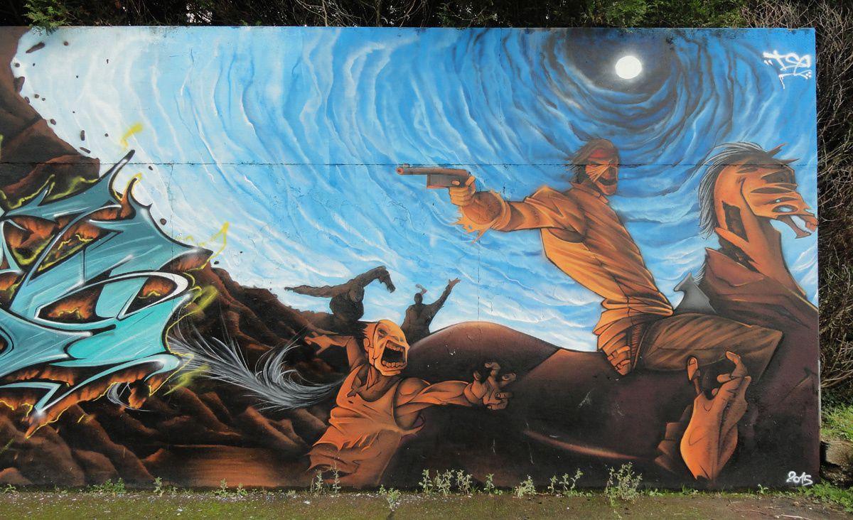 Street Art : Graffitis &amp&#x3B; Fresques Murales Département Seine Maritime (76)