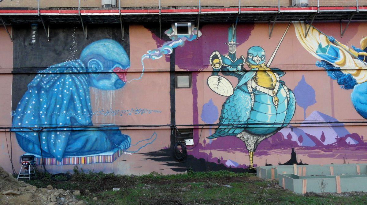 Street Art : Graffitis &amp&#x3B; Fresques Murales Louvain la Neuve (Belgique)
