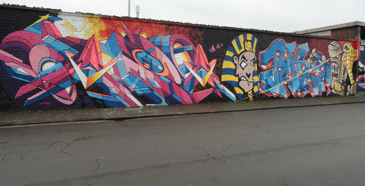 Street Art : Graffitis & Fresques Murales Anvers (Belgique)
