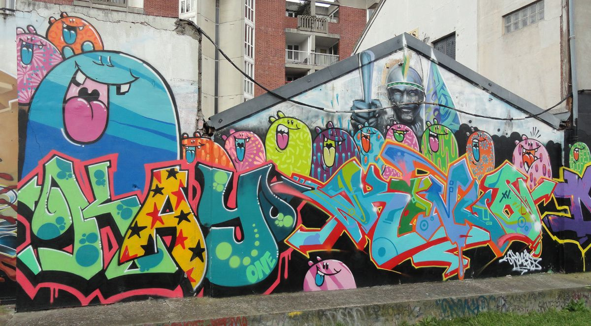 Street Art : Graffitis & Fresques Murales 93070 Saint Ouen