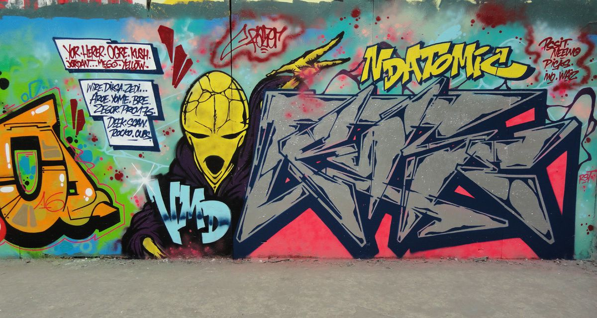 Street Art : Graffitis &amp&#x3B; Fresques Murales département Hauts de seine (92)