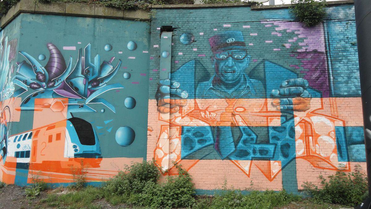 Street Art : Graffitis &amp&#x3B; Fresques Murales 6000 Charleroi (Belgique)
