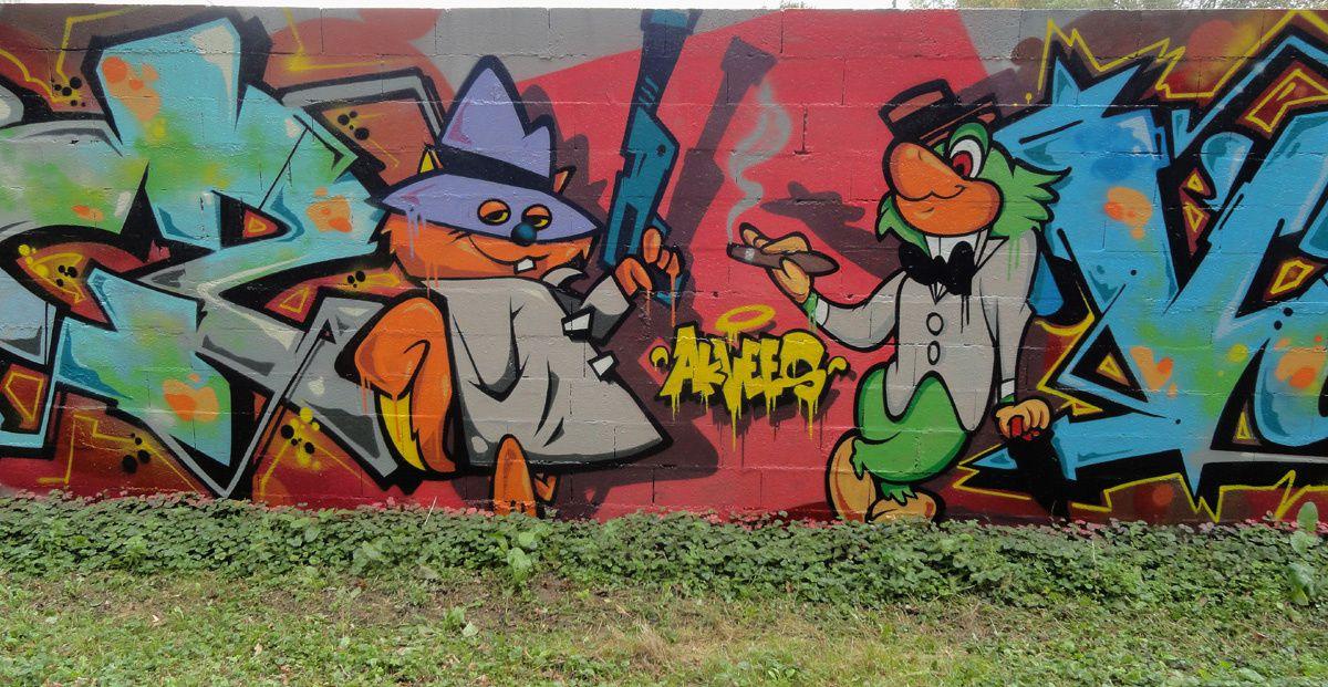 Street Art : Graffitis &amp&#x3B; Fresques Murales Département Eure (27)