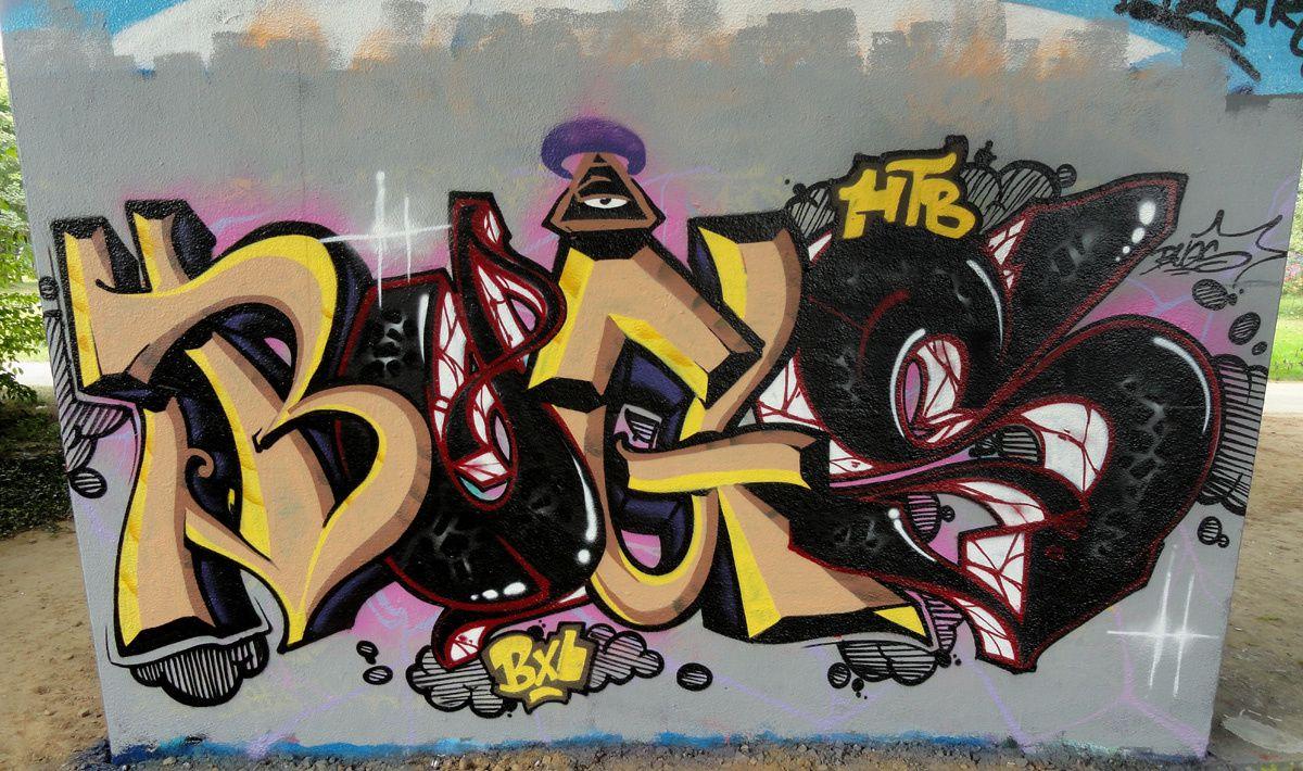 Street Art : Graffitis & Fresques Murales 1070 Anderlecht (Belgique)