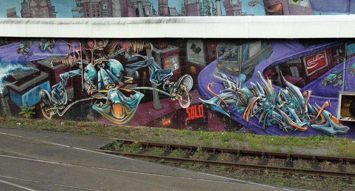 Street Art : Graffitis &amp&#x3B; Fresques Murales 1000 Bruxelles
