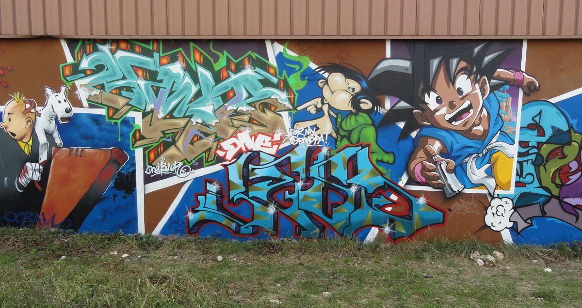 Street Art : Graffitis &amp&#x3B; Fresques Murales 77464 Thorigny sur marne