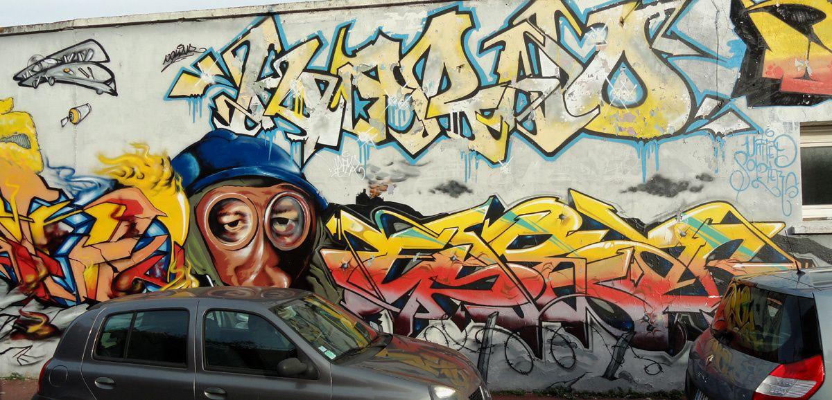 Street Art : Graffitis &amp&#x3B; Fresques Murales 59183 Dunkerque