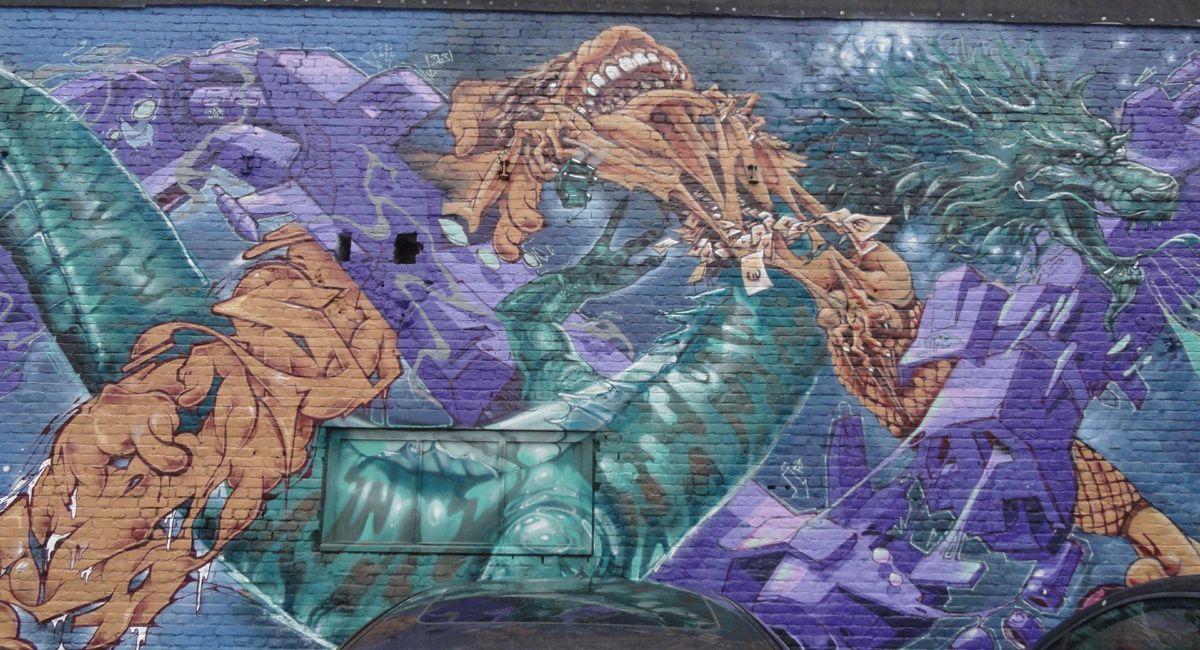 Street Art : Graffitis &amp&#x3B; Fresques Murales 8550 Awevegem (Belgique)