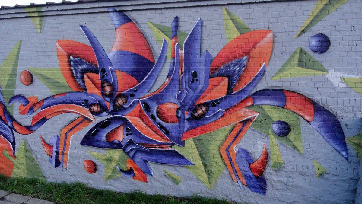 Street Art : Graffitis &amp&#x3B; Fresques Murales 5060 Sambreville (Belgique)