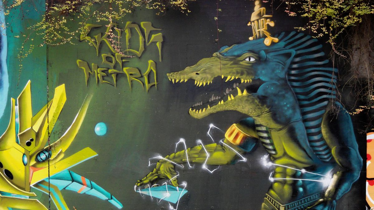 Street Art : Graffitis &amp&#x3B; Fresques Murales 6061 Charleroi (Belgique)