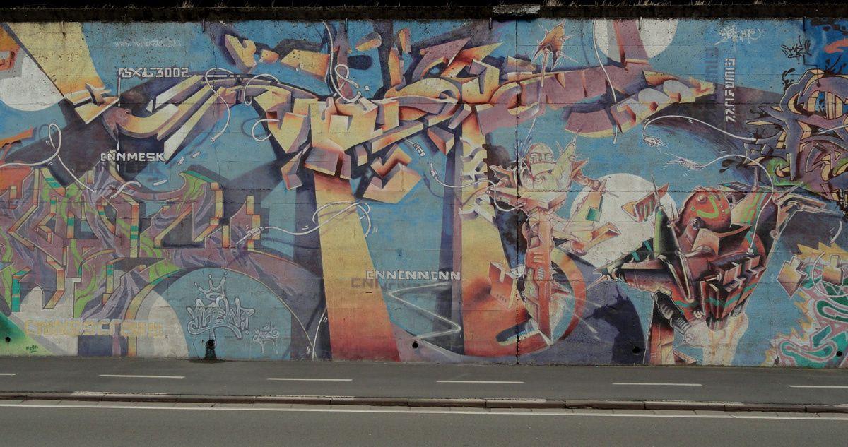 Street Art : Graffitis &amp&#x3B; Fresques Murales 6020 Charleroi (Belgique)