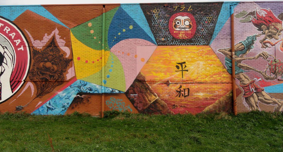 Street Art : Graffitis &amp&#x3B; Fresques Murales 9200 Termonde (Belgique)