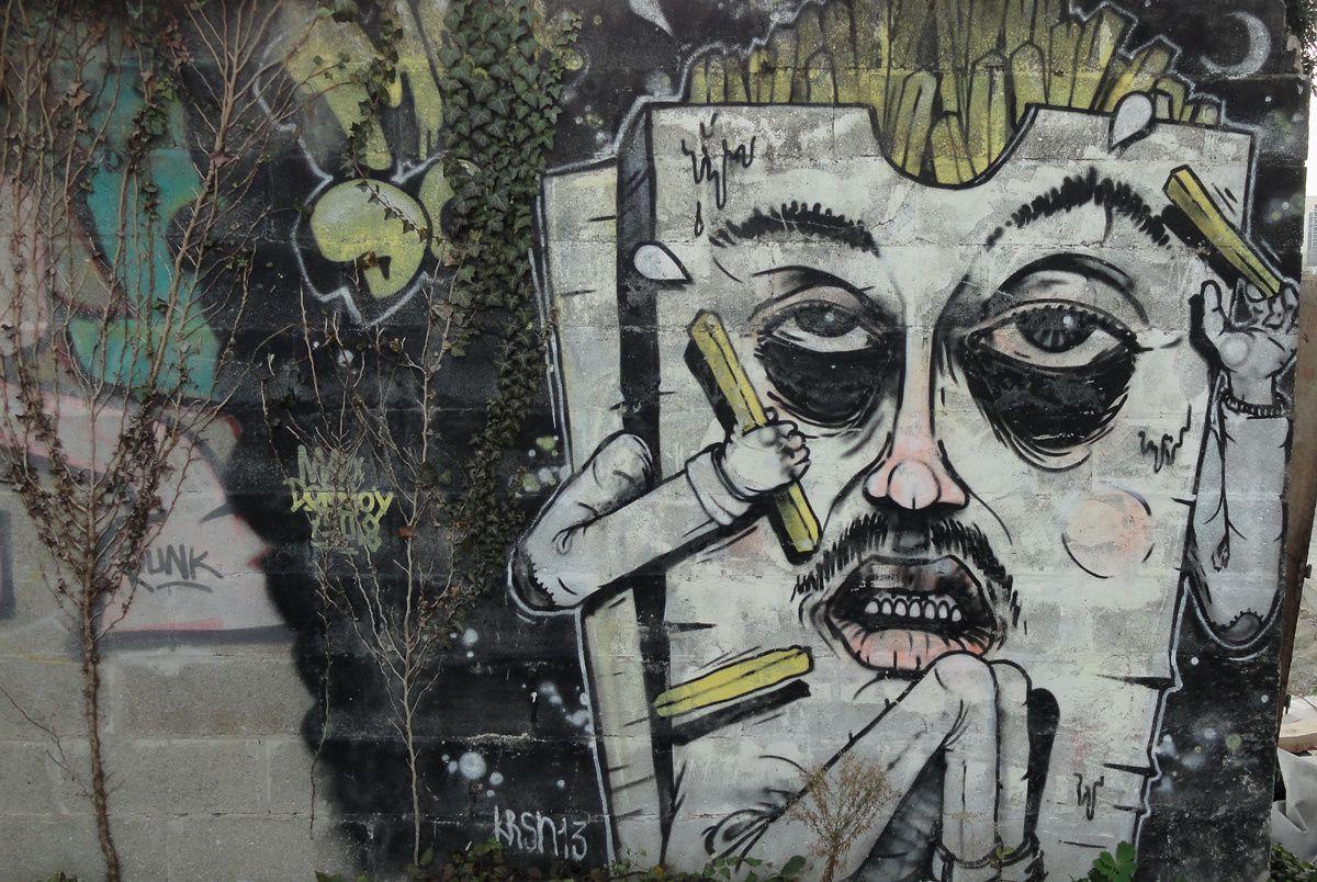 Street Art : Graffitis &amp&#x3B; Fresques Murales 93055 Pantin