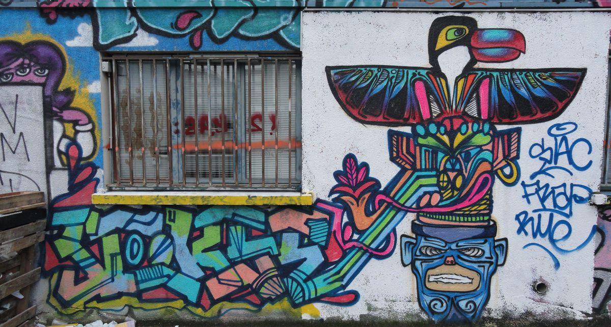 Street Art : Graffitis &amp&#x3B; Fresques Murales 92004 Asnières sur seine