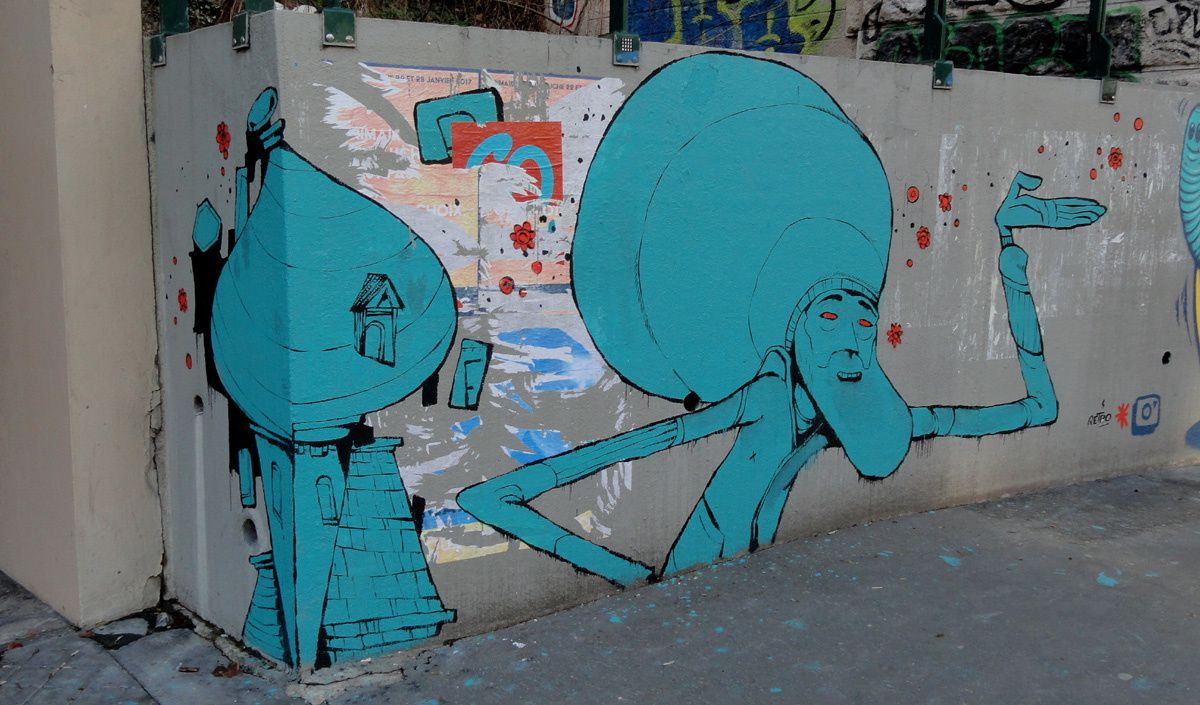 Street Art : Graffitis &amp&#x3B; Fresques Murales 75020 Paris