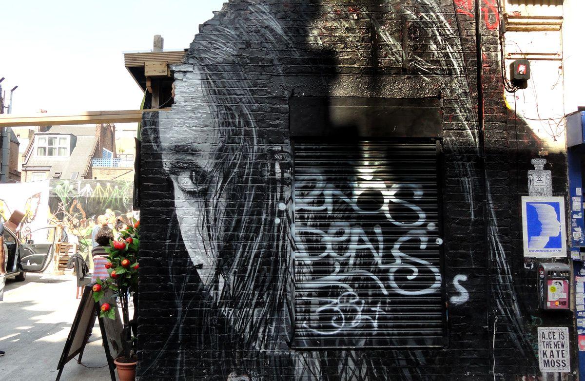 Street Art : Graffitis &amp&#x3B; Fresques Murales district Spitalfields London