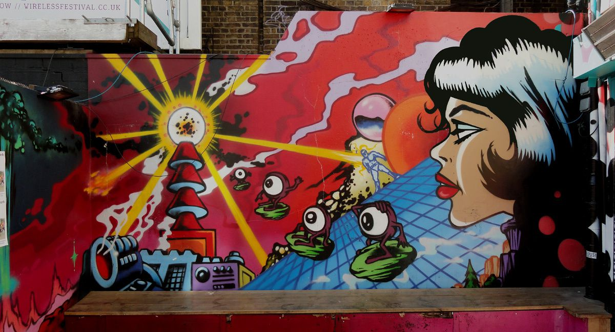 Street Art : Graffitis &amp&#x3B; Fresques Murales Brixton District Lambeth South London