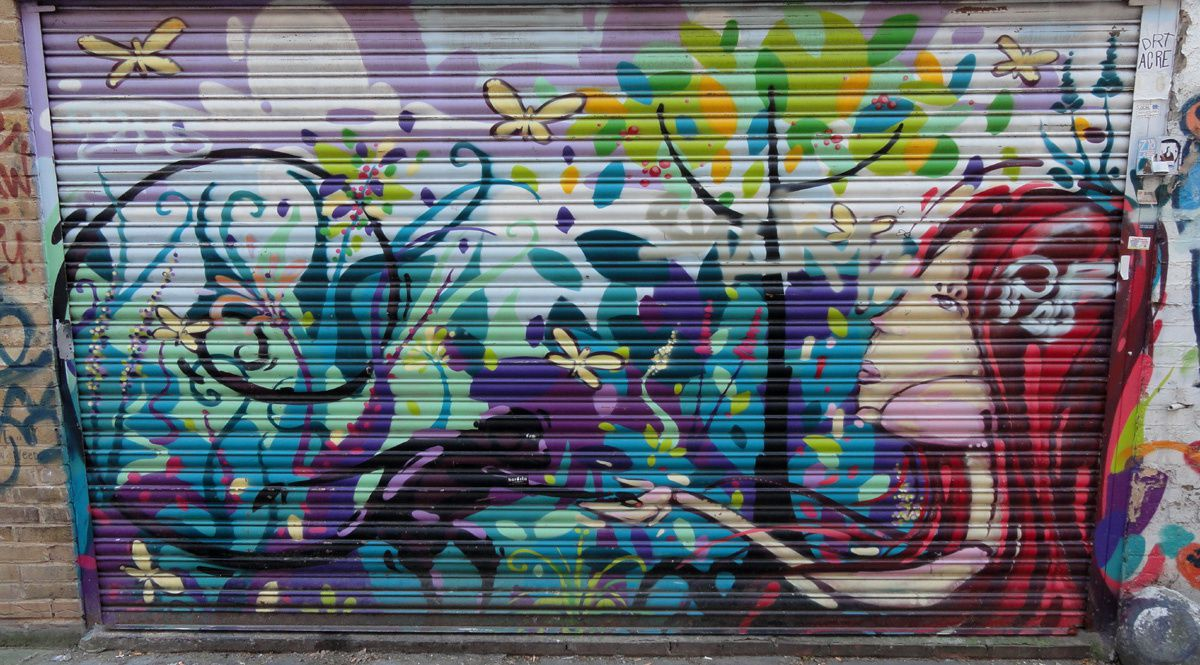 Street Art : Graffitis &amp&#x3B; Fresques Murales district Spitalfields London