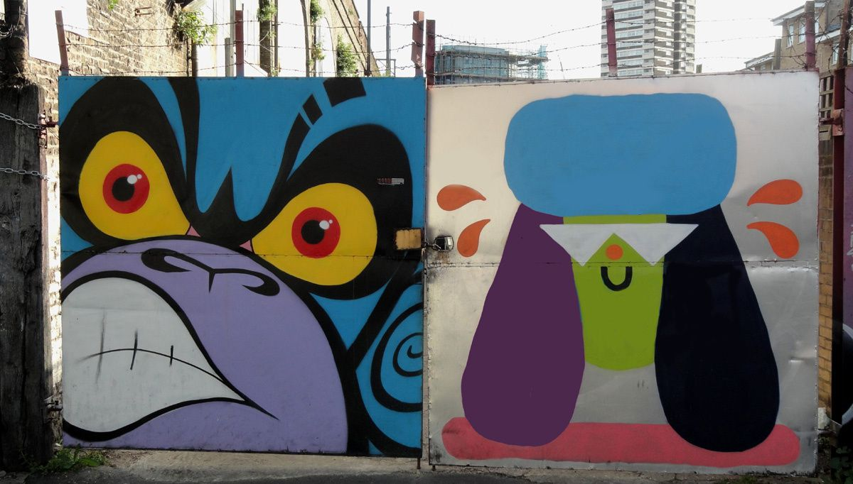 Street Art : Graffitis &amp&#x3B; Fresques Murales district Tower Hamlets London