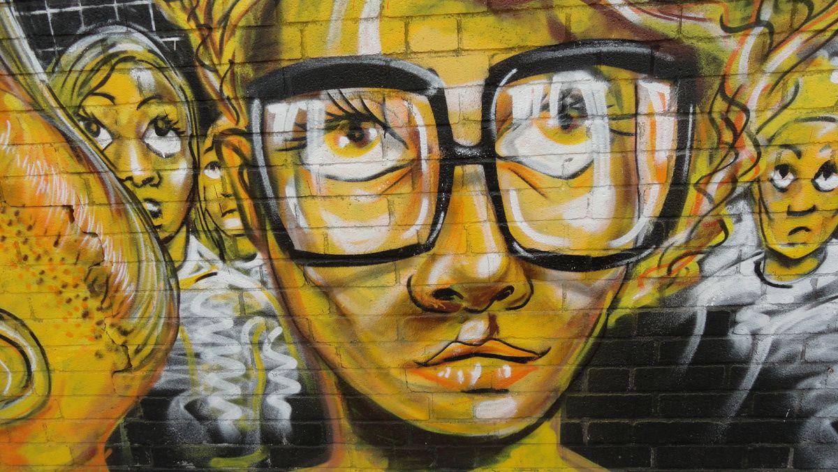 Street Art : Graffitis &amp&#x3B; Fresques Murales district Bethnal Green London