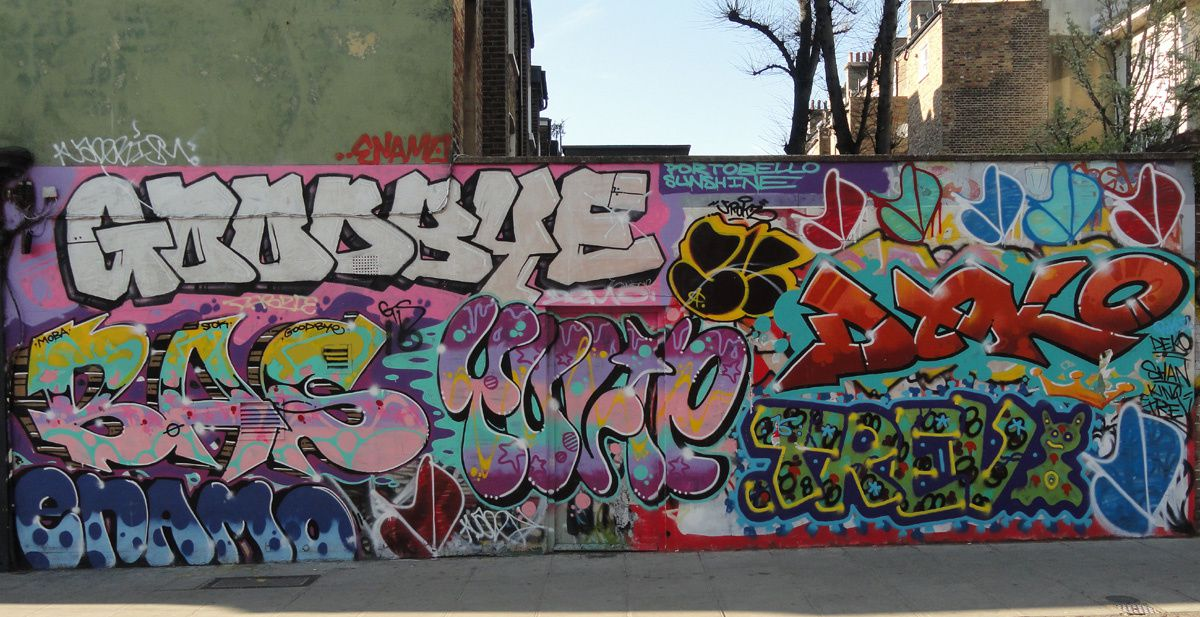 Street Art : Graffitis &amp&#x3B; Fresques Murales Notting Hill district Kensington London