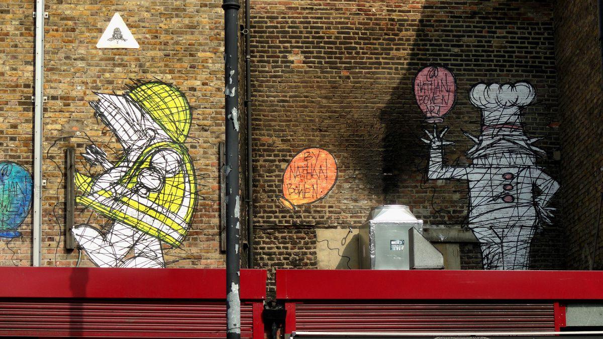 Street Art : Graffitis &amp&#x3B; Fresques Murales Bethnal Green District Tower Hamlets London