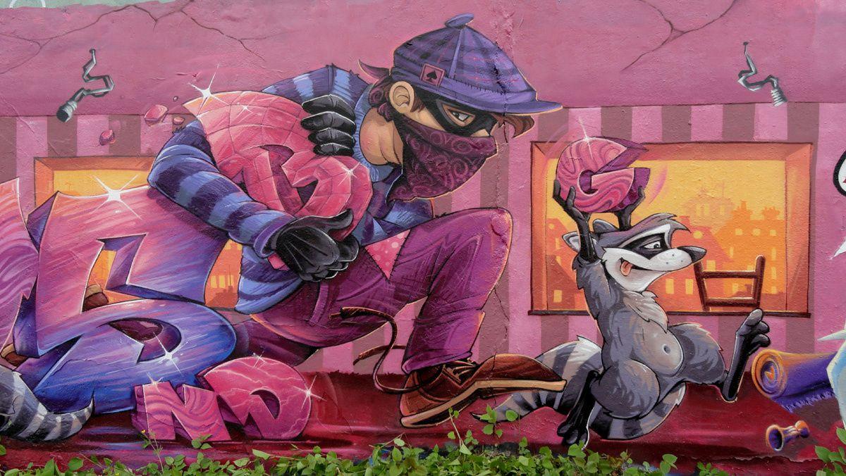 Street Art : Graffitis &amp&#x3B; Fresques Murales  54580 Nancy