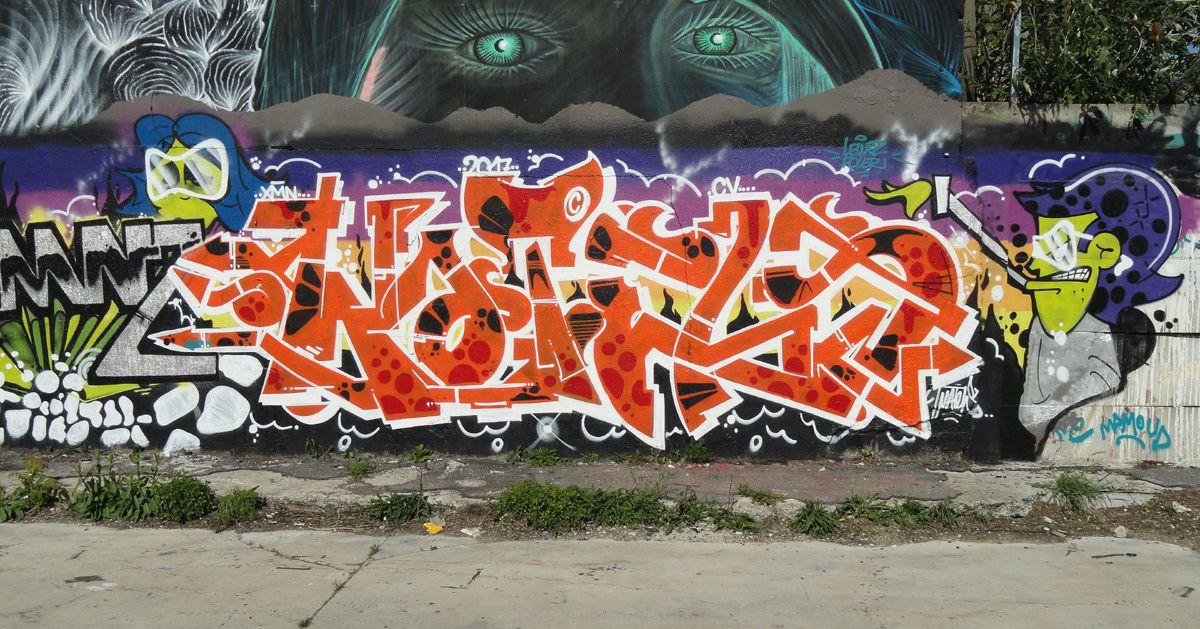 Street Art : Graffitis &amp&#x3B; Fresques Murales 93001 Aubervilliers