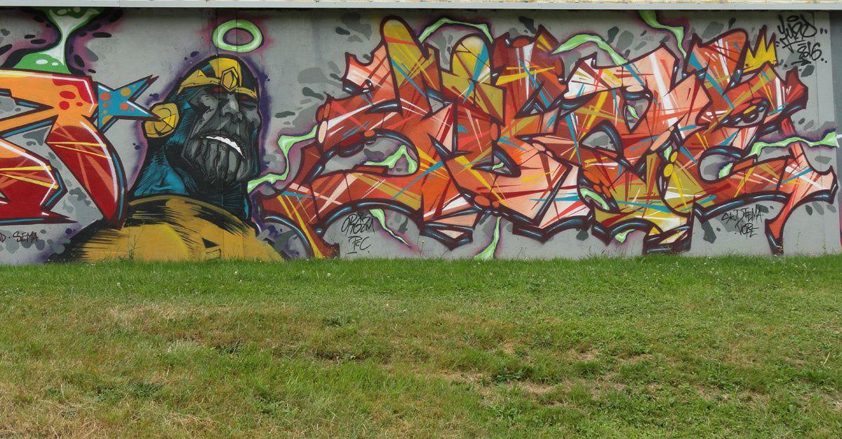 Street Art : Graffitis &amp&#x3B; Fresques Murales 87085 Limoges