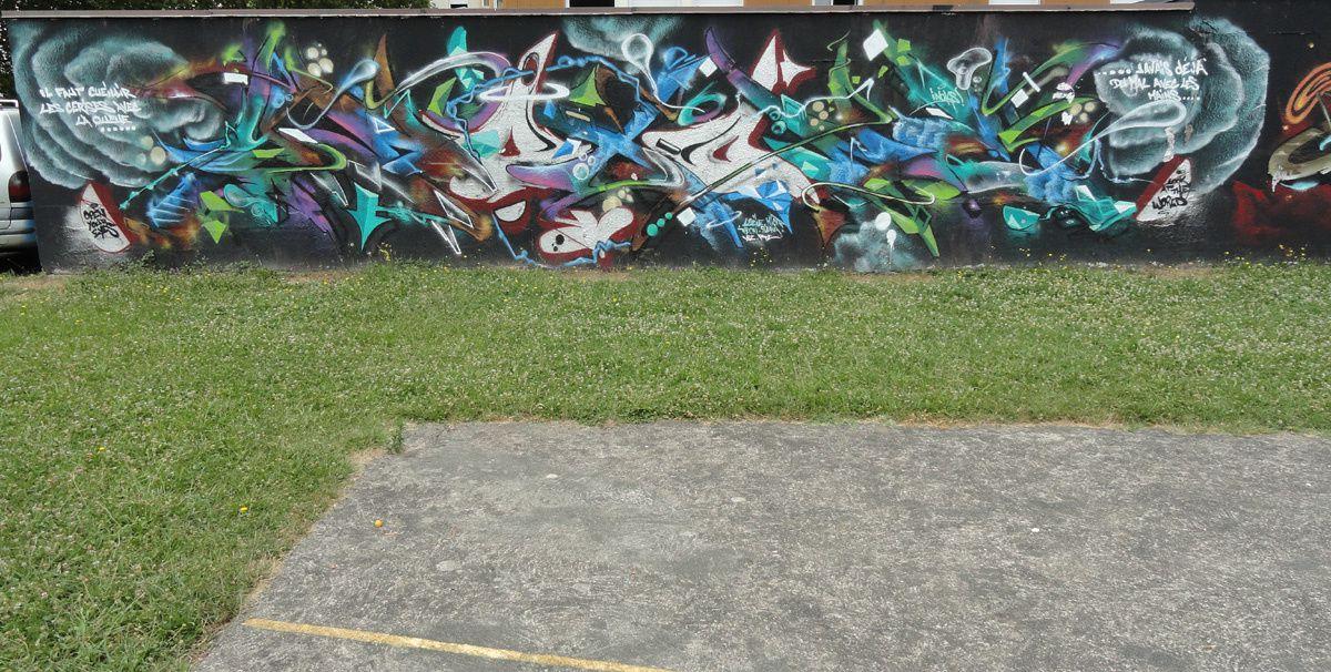 Street Art : Graffitis &amp&#x3B; Fresques Murales 19031 Brive la Gaillarde