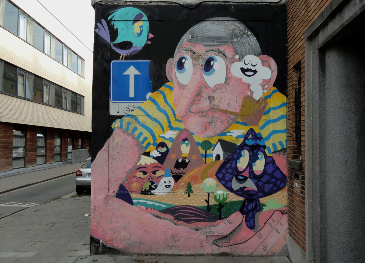 Street Art : Graffitis &amp&#x3B; Fresques Murales 9000 Gand (Belgique)