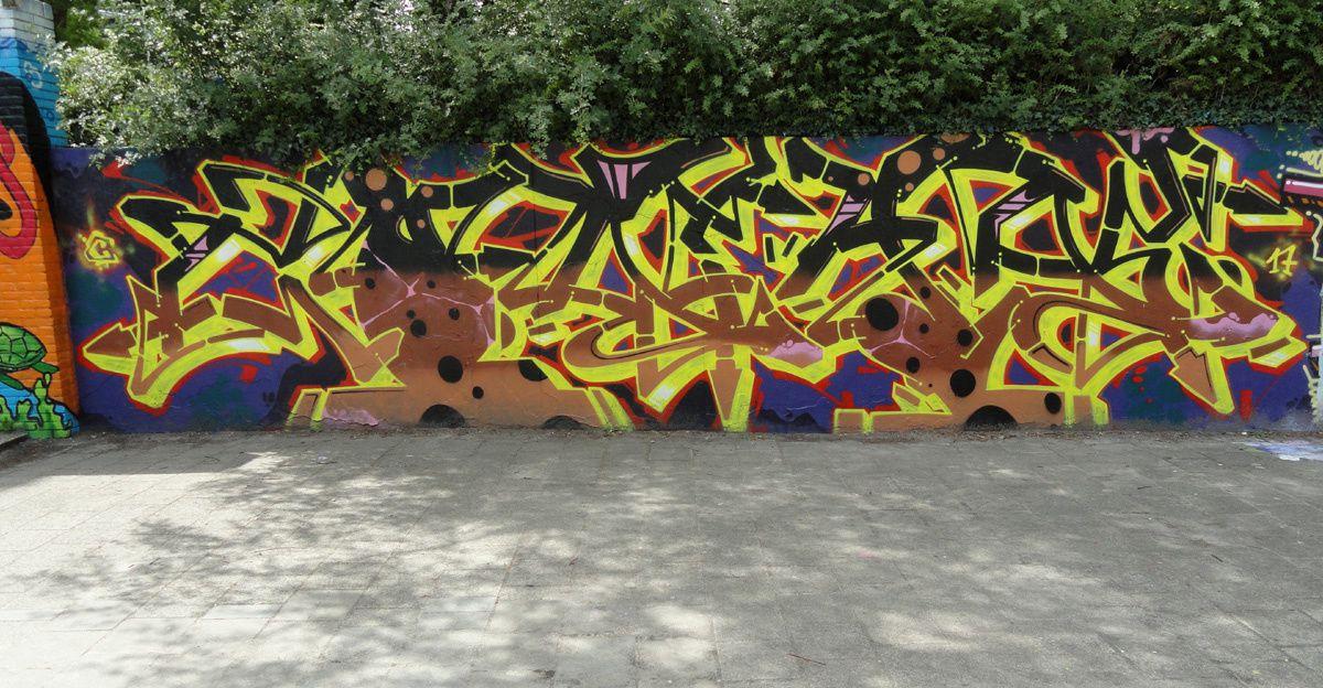 Street Art : Graffitis &amp&#x3B; Fresques Murales 5042 Tilburg (Pays Bas)