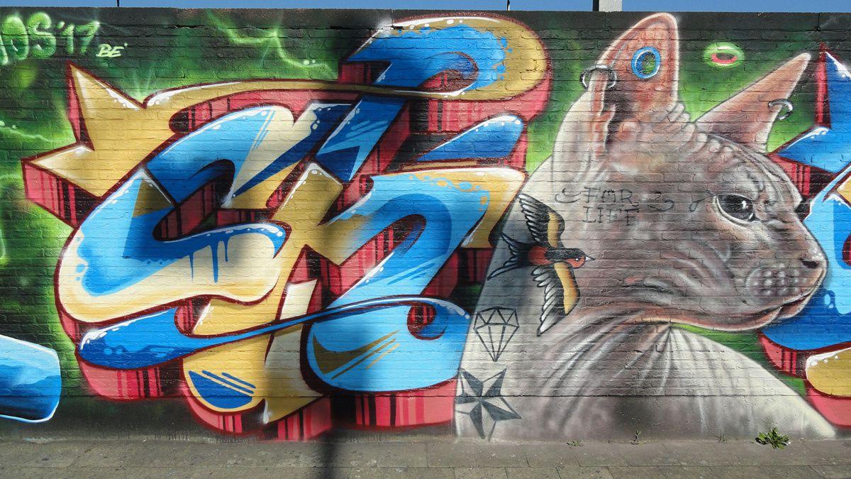 Street Art : Graffitis &amp&#x3B; Fresques Murales 2018 Antwerpen (Belgique)