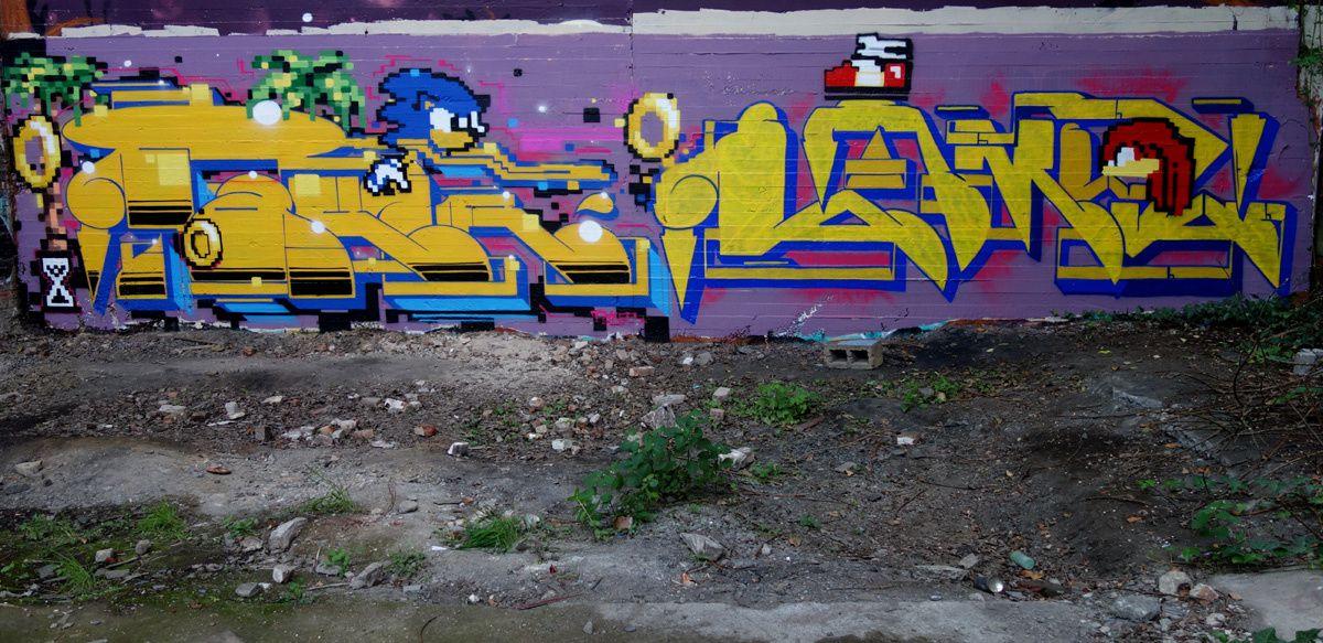 Street Art : Graffitis &amp&#x3B; Fresques Murales 7000 Mons (Belgique)