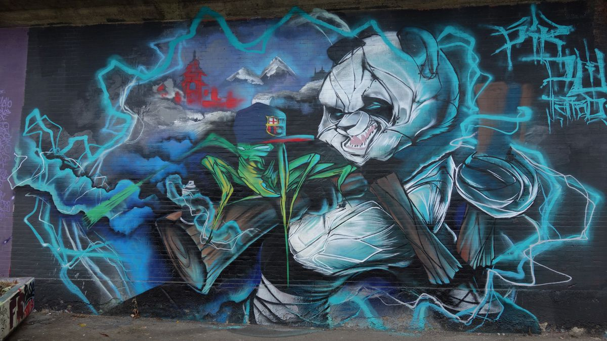 Street Art : Graffitis &amp&#x3B; Fresques Murales 6030 Charleroi (Belgique)