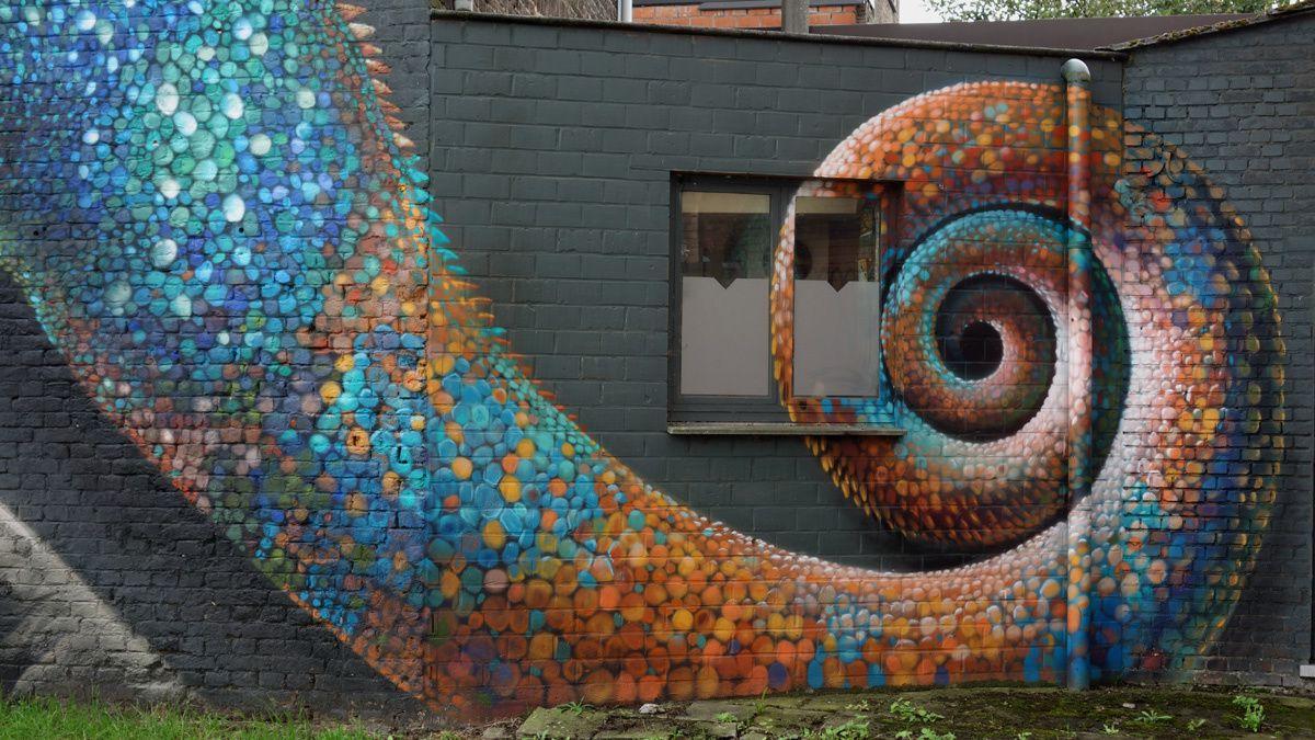 Street Art : Graffitis &amp&#x3B; Fresques Murales 3500 Hasselt (Belgique)