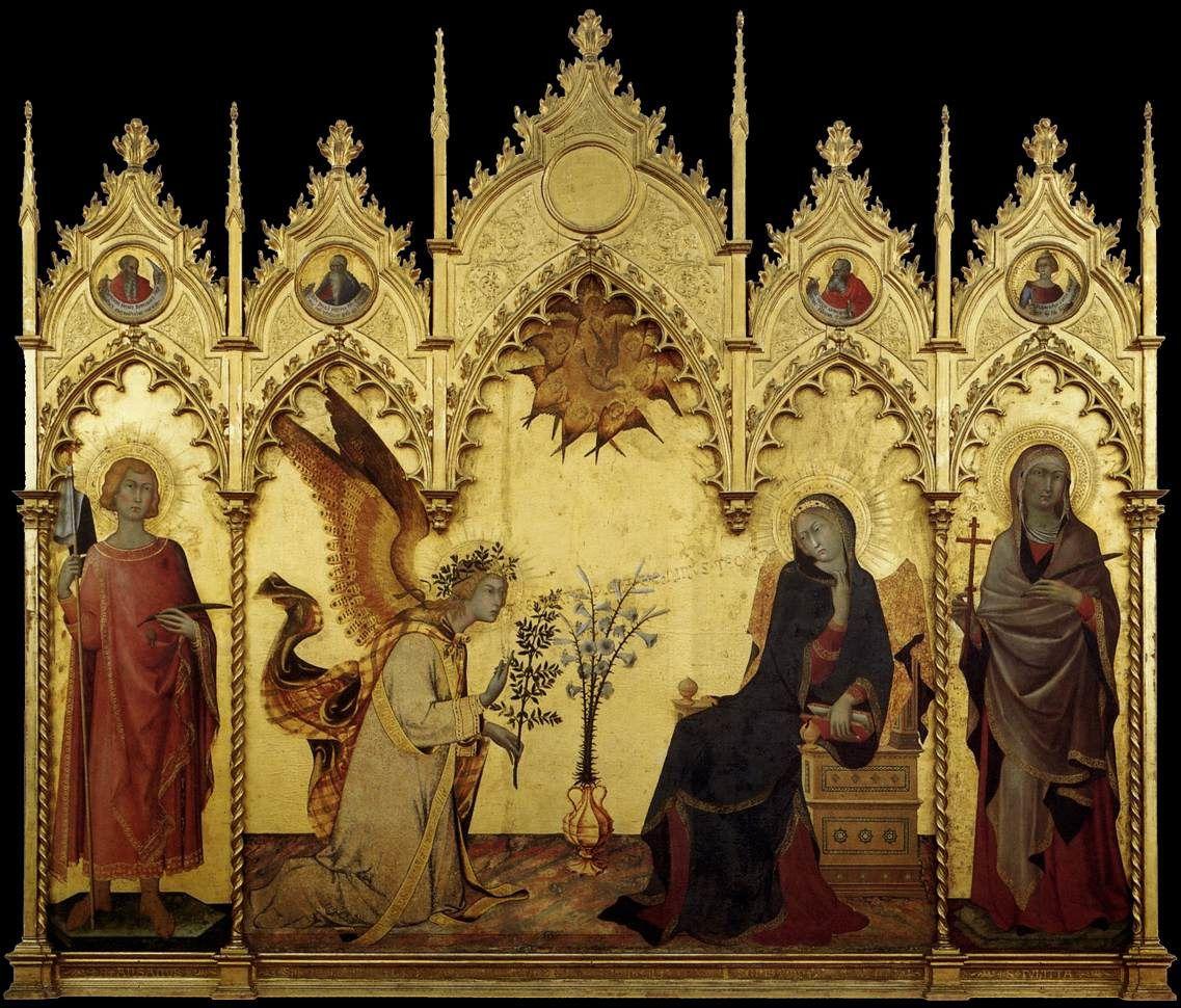 Le sacré chez les peintres primitifs siennois du 14e siècle