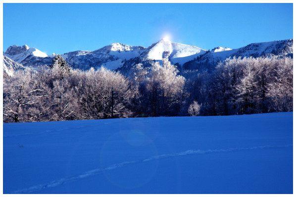 montagne neige hiver ete