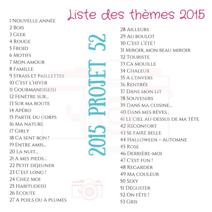 2015 projet 52 les thèmes