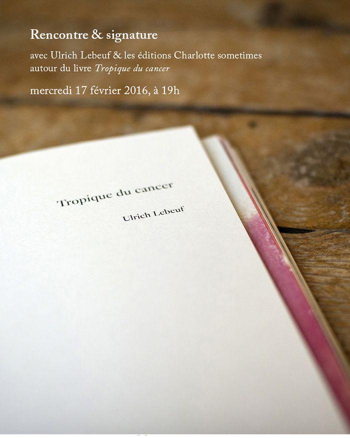Ulrich Lebeuf et Charlotte Guy Rencontre signature au Château d'eau (Toulouse)