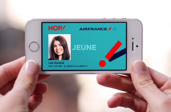 carte jeune hop air france