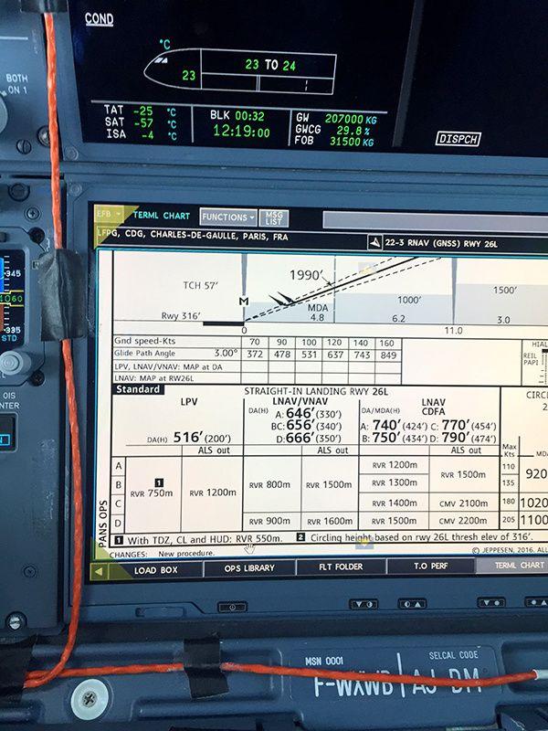 Nouvelle Procédure par Satellite à l'Aéroport Paris-CDG