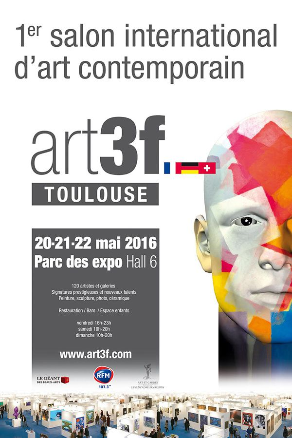 1er salon d art contemporain art3f toulouse - Salon art contemporain ...