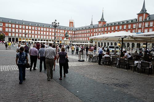 plaza mayor madrid espana