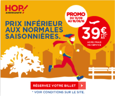 hop air france tarif promotion