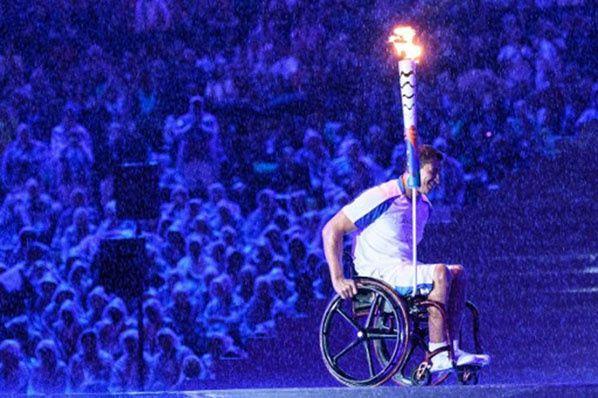Cérémonie d'ouverture des Jeux paralympiques, à Rio, le 7 septembre 2016. Yasuyoshi Chiba/AFP