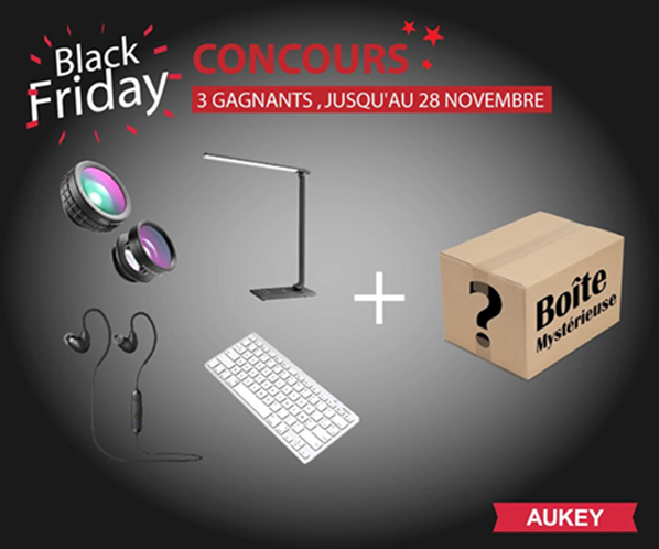 Black Friday grand concours Aukey France