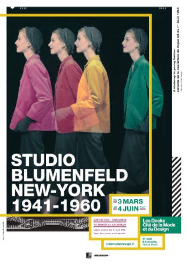 La Cité de la Mode et du Design accueille Studio Blumenfeld, New-York, 1941-1960