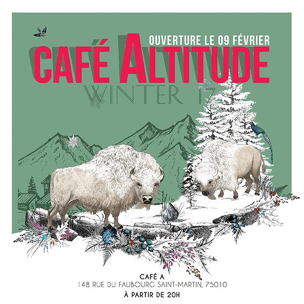 Ouverture du Café Altitude by Zubrowka Vodka à Paris credit photo @ Café A: