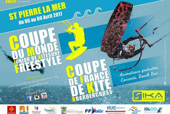 La Coupe du Monde Junior de KiteSurf et le Championnat de France de KiteBoarder Cross